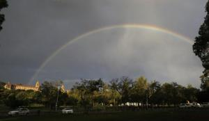A Mandela Pretoria rainbow 12th Dec
